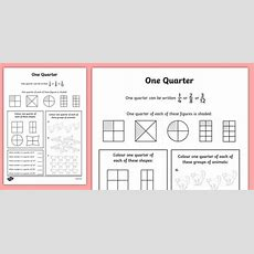 Fractions Quarters Worksheet  Numeracy, Place Value, Maths, Math, Worksheet