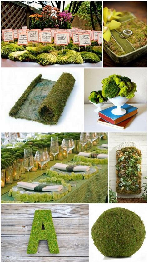 How To Use Moss In Wedding Decorations And Centerpieces