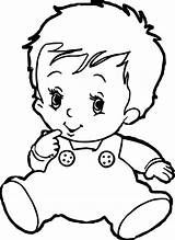 Coloring Baby Pages Cute Printable sketch template
