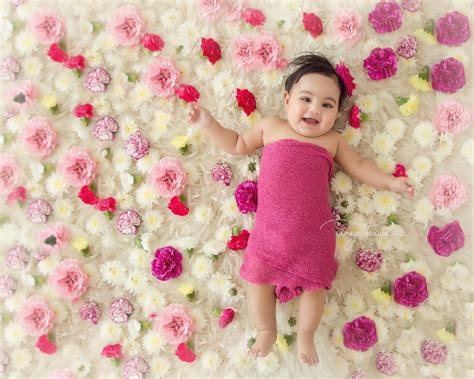 india baby photoshoot session   month  girl