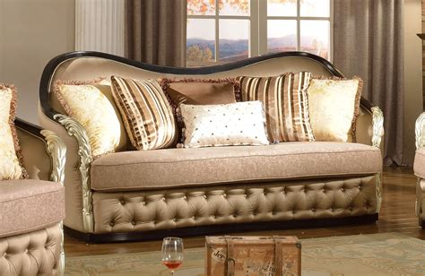 Curved Loveseat Sofa by Lafayette Traditional Curved Beige Sofa Loveseat With