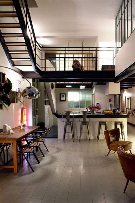 cloison vitree cuisine le garde corps mezzanine jolies idées pour lofts avec