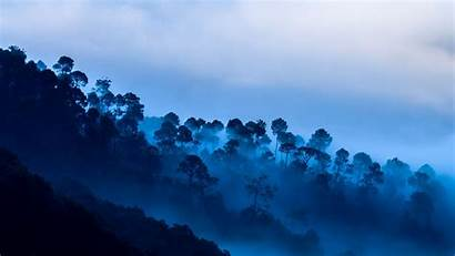 Kausani Langit Biru Uttarakhand Senja India Trees
