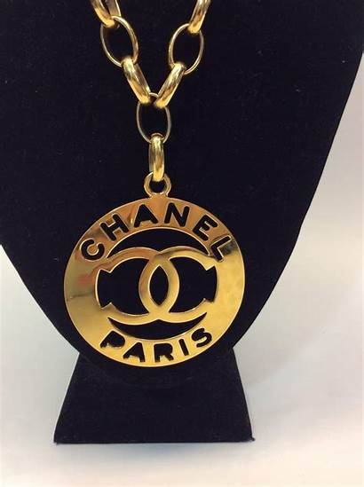 Chanel Medallion Gold Necklace Plated Chain Want