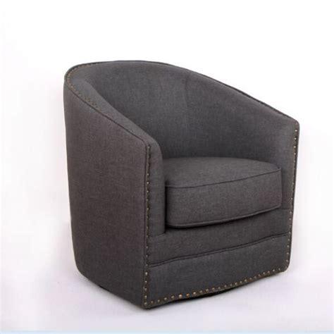 Swivel Tub Chair Fabric - baxton studio porter contemporary grey fabric upholstered