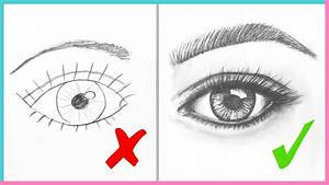 Realistic Eye Drawing Dos Don'ts How To Draw Realistic ...