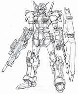 Coloring Agito666 Exia sketch template