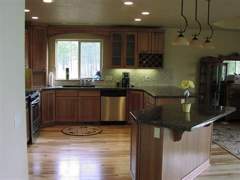 wood kitchen cabinets with wood floors hickory cabinets with wood floors wood floors 9948