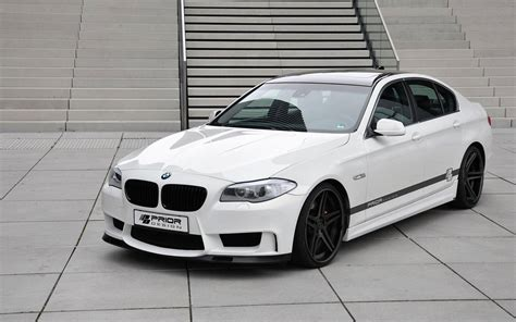 Modified White Bmw 3 Series by Bmw 5 Series F10 With Prior Design Kit Sport Cars