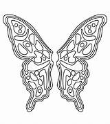 Coloring Wings Pages Butterfly Angel Fairy Pattern Printable Template Colouring Sheet Patterns Sheets Cut Momjunction Templates Adult Polyvore Wing Cutting sketch template