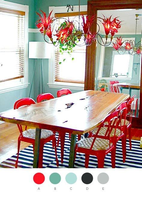 red dining chairs  interior designs interior  life