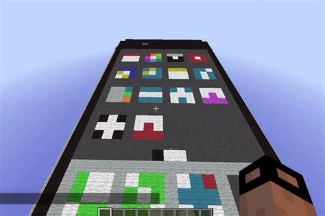 minecraft iphone someone built a working iphone inside of minecraft