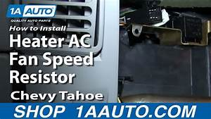 How To Replace Blower Motor Resistor 95