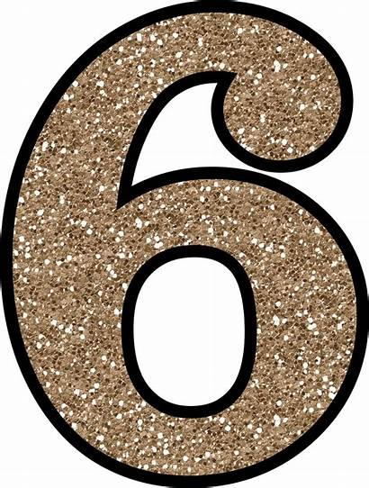 Glitter Number Numbers Clipart Printable Transparent Without