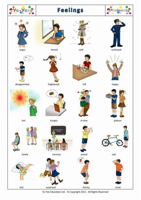 Feelings  Describing People Adjectives  A1  Vocabulary Esl  Pinterest  Language, The
