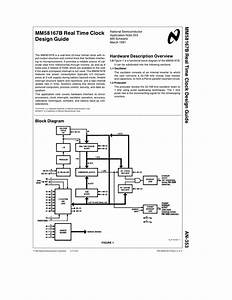 Mm58167b Real Time Clock Design Guide Mm58167b Real
