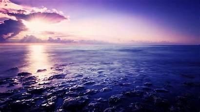 Ocean Desktop Backgrounds Purple Sea Reflection Wallpapers