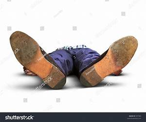 Exhausted Or Dead Man Lying On The Floor Stock Photo ...