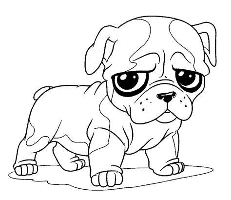 gambar mewarnai anjing yang lucu