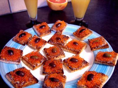 canapé oeuf canapés aux oeufs de truite recette poissons