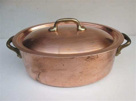 williams sonoma villedieu france copper cocotte oval roaster casserole pot williamssonoma