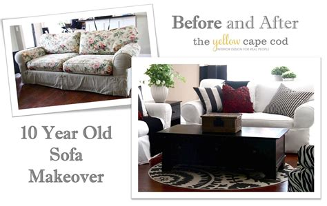 How To Reupholster A Sleeper Sofa by Ten Year Sofa Makeover Easy Diy Projects Sofa