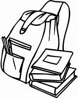 Backpack Coloring Pages Student Tocolor Backpacks Getcoloringpages Books Open sketch template