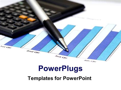 finance powerpoint template powerpoint template financial charts calculated with pen and calculator on white background 17124