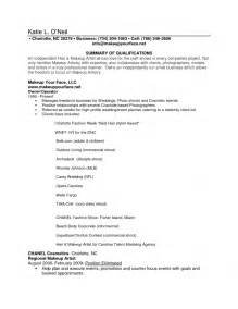 makeup artist resume sles beginner writer resume