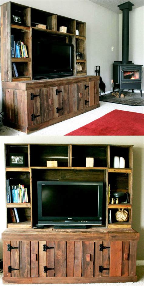 pallet entertainment center 20 pallet ideas you can diy for your home 99 pallets Diy