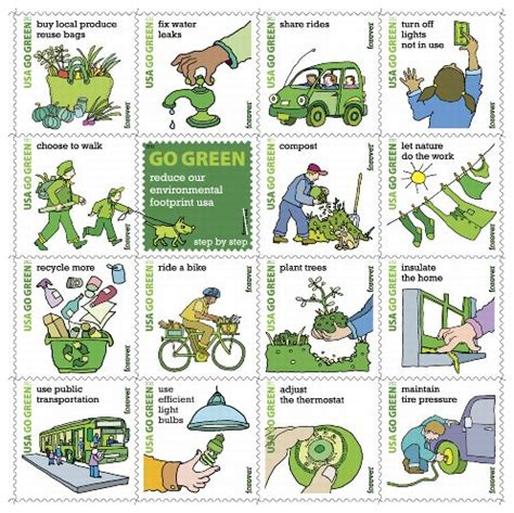 Publicity Kit Go Green Forever Stamps