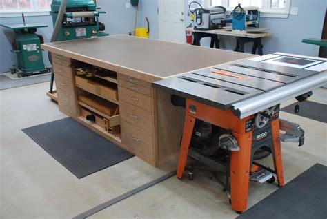 portable table saw outfeed table outfeed table by woodscrap lumberjocks com