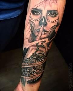 Tatouage Homme Original : tatouage visage femme mexicain acidcruetattoo ~ Melissatoandfro.com Idées de Décoration