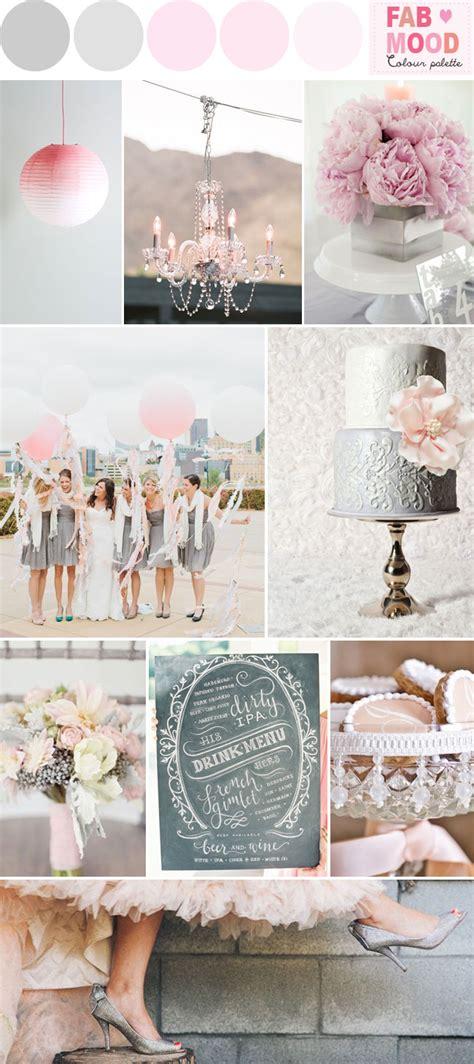 grey pink wedding colors palette ideas grey  pink