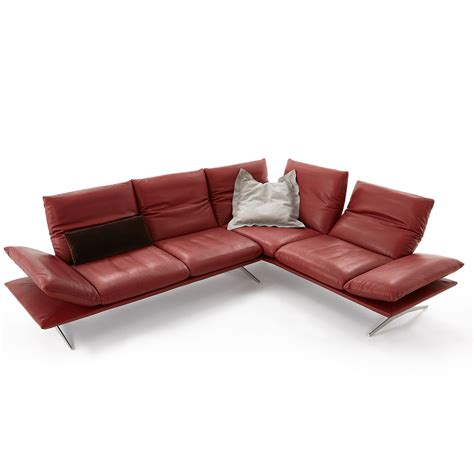 Koinor Sofa Gebraucht by Koinor Sofa Francis In Rot Leder M 246 Bel B 228 R Ag