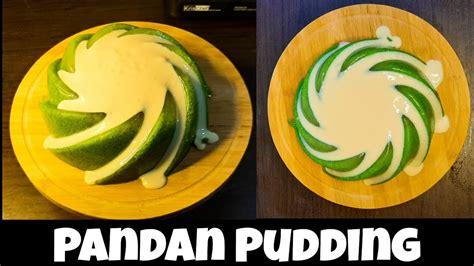 Resep puding tape ketan hitam kelapa muda →. PANDAN PUDDING RECIPE | Resep Puding Lumut Pandan + Vla Vanilla - YouTube
