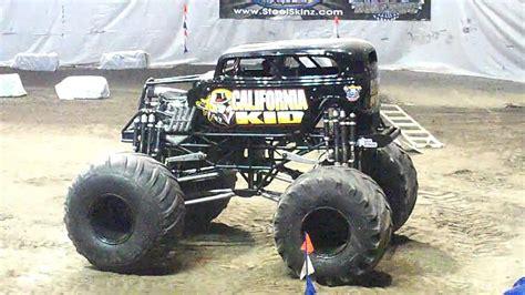 monster truck show california california kid monster truck wheelie contest youtube