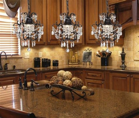 Luxurious Three Crystal Chandelier Pendant Lights Over
