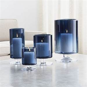 london blue hurricane candle holders crate and barrel With kitchen cabinets lowes with votive candles in glass holders