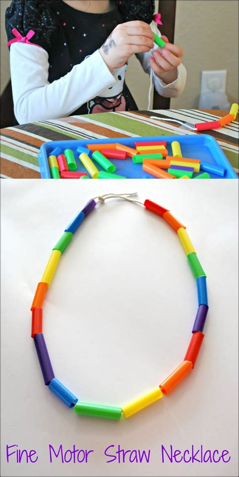 motor skills activity for preschoolers mess for less 125 | fine motor straw necklace