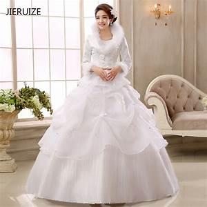 jieruize white organza ball gown cheap muslim wedding With winter wedding dresses 2017