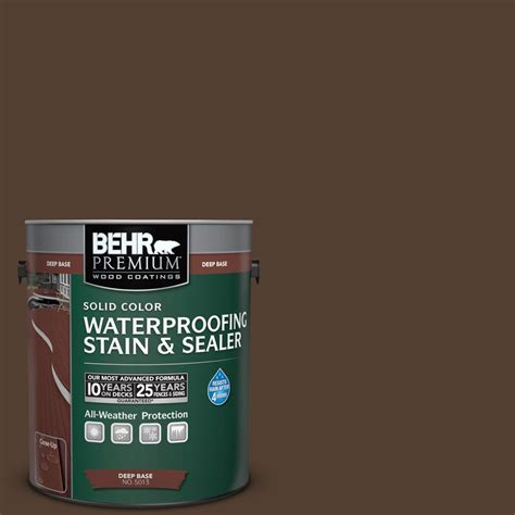 behr premium  gal sc  wood chip solid color