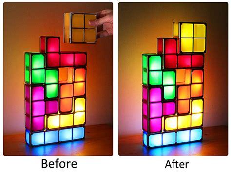 tetris stackable led desk l nz diy usb tetris stackable led light