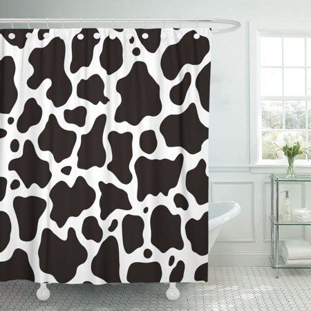 Cowhide Shower Curtain by Pknmt Cowhide Black And White Cow Pattern Animal Skin