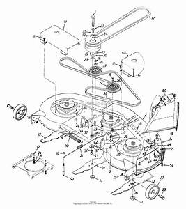 Mtd 13au694h016  1999  Parts Diagram For Deck Assembly H