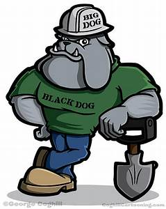 Construction Worker Bulldog Cartoon Character - a photo on ...
