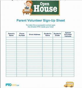 10 best sign up sheets images on pinterest classroom With back to school sign in sheet template