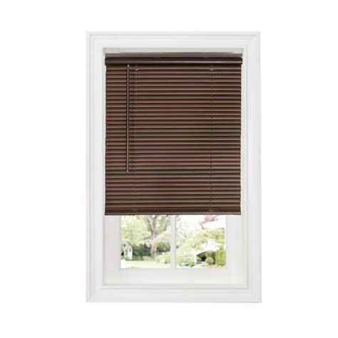 cordless vinyl mini blinds achim mahogany 1 in cordless room darkening vinyl blind
