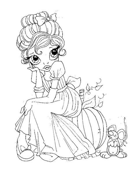 coloring pages big eye girls boys images