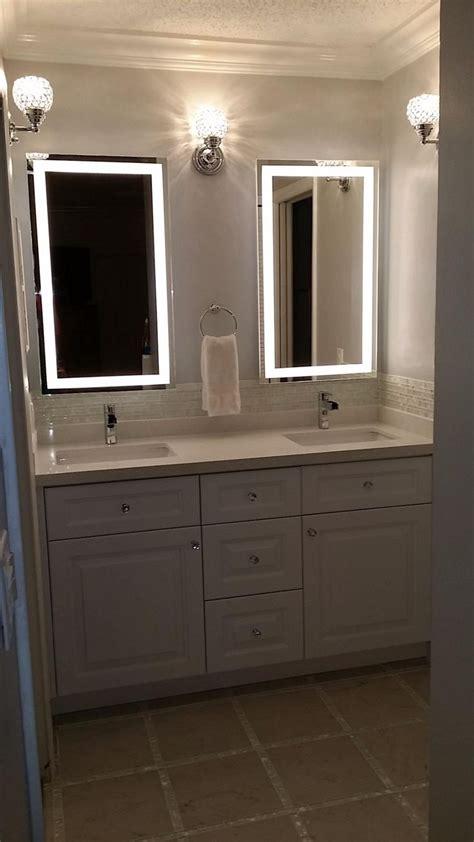 led bathroom lights ideas  pinterest mirror